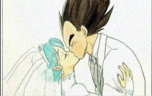 vegeta bulma kiss 2
