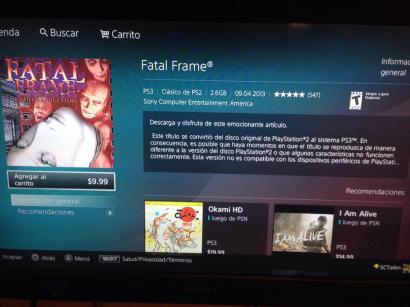 Fatal Frame en PSN