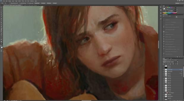 Marek Okon fan art de Ellie The Last of Us photoshop